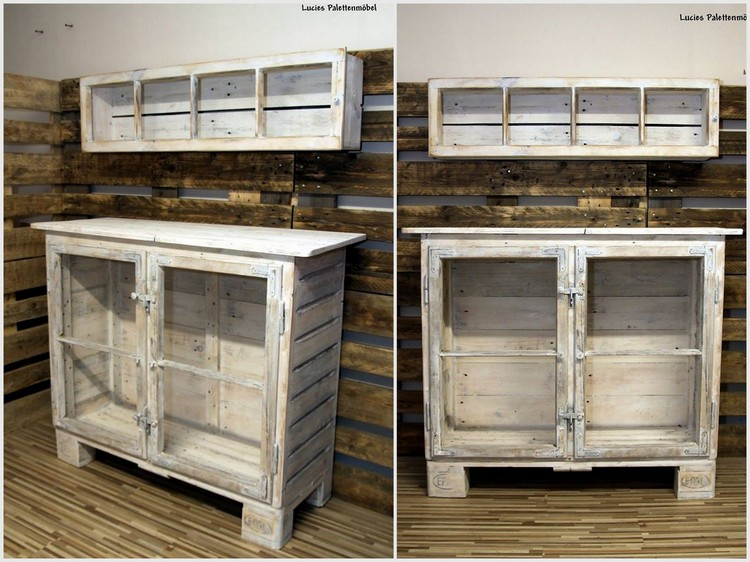 Wood Pallet Cabinet and Rack