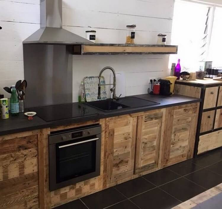 Wood Pallet Kitchen Cabinets
