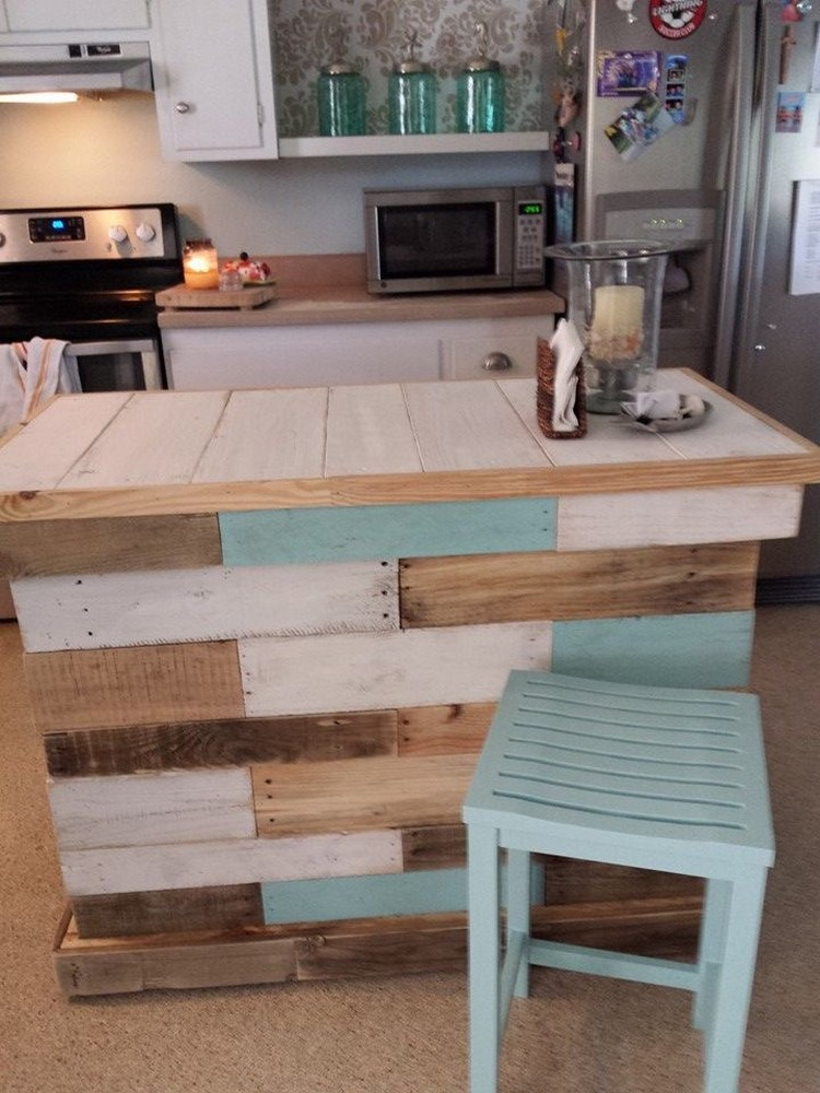Most easiest but practical recycled pallet ideas that for Pallet kitchen ideas