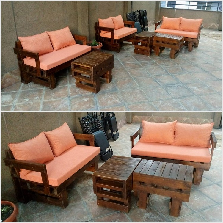 Wood Pallet Outdoor Seating Plan