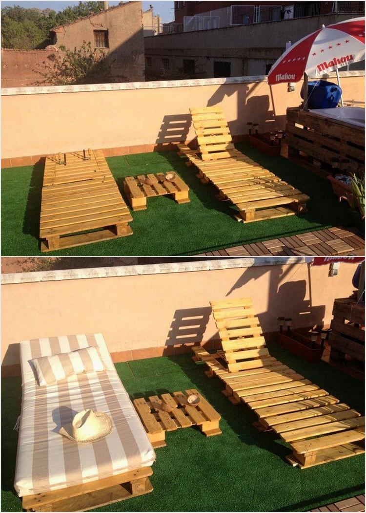 Wood Pallet Sun Lounge