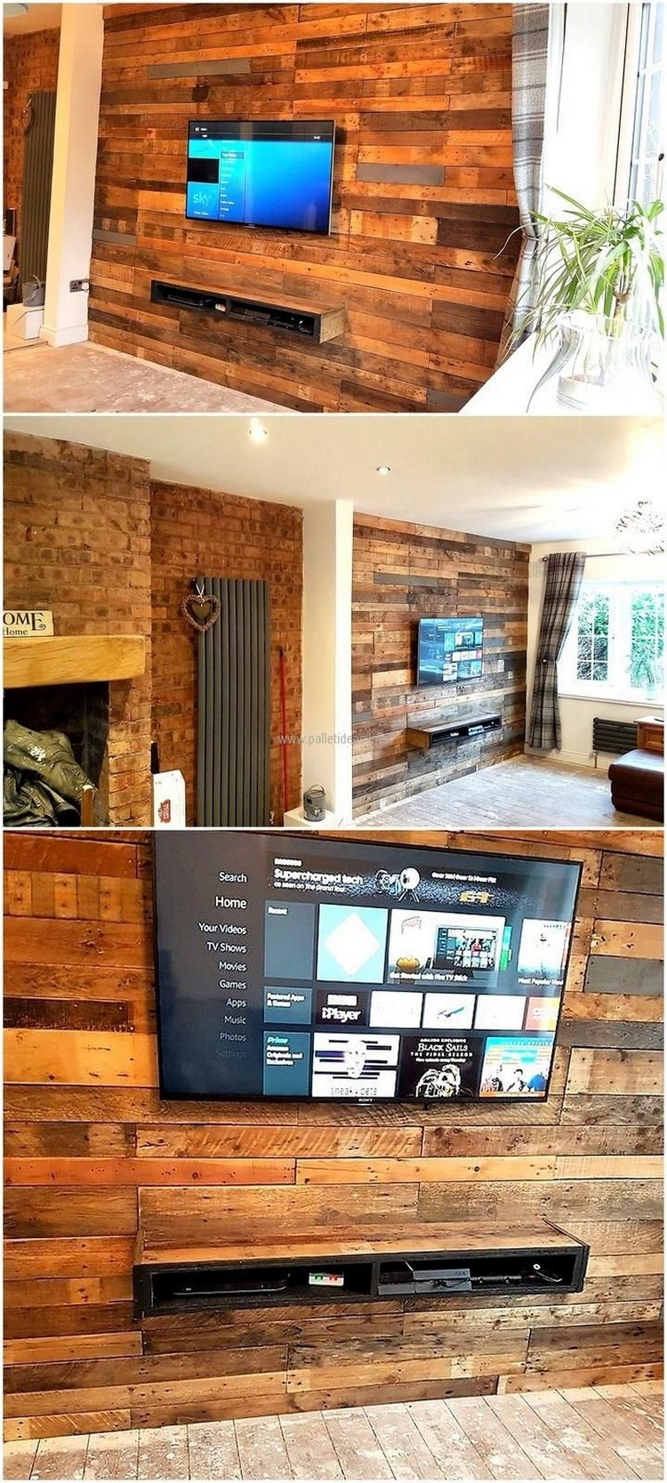 Wood Pallet Wall Project