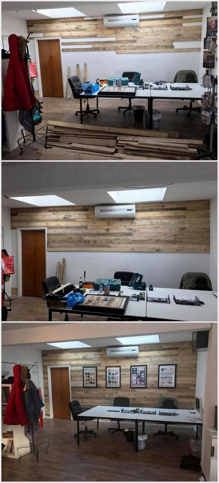 DIY Pallet Wood Wall Cladding