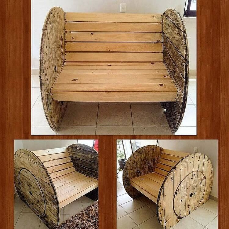 Pallet Cable Spool Chair