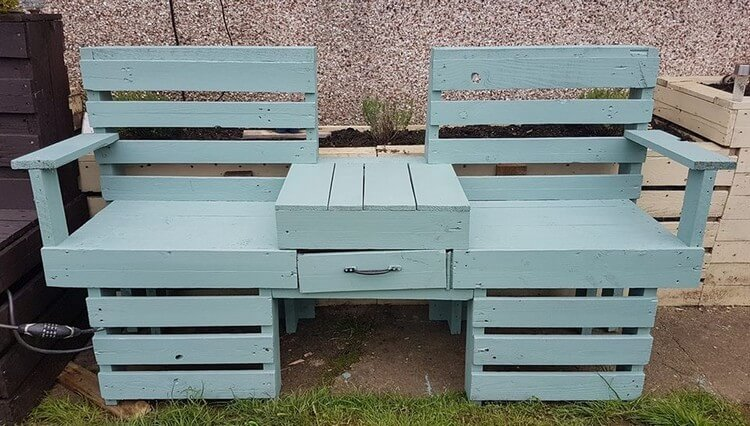 Pallet Double Chairs with Storage