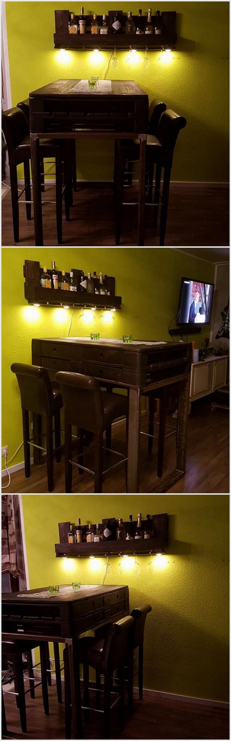 Inspire your guests with awesome wood pallet creations Wine bar furniture