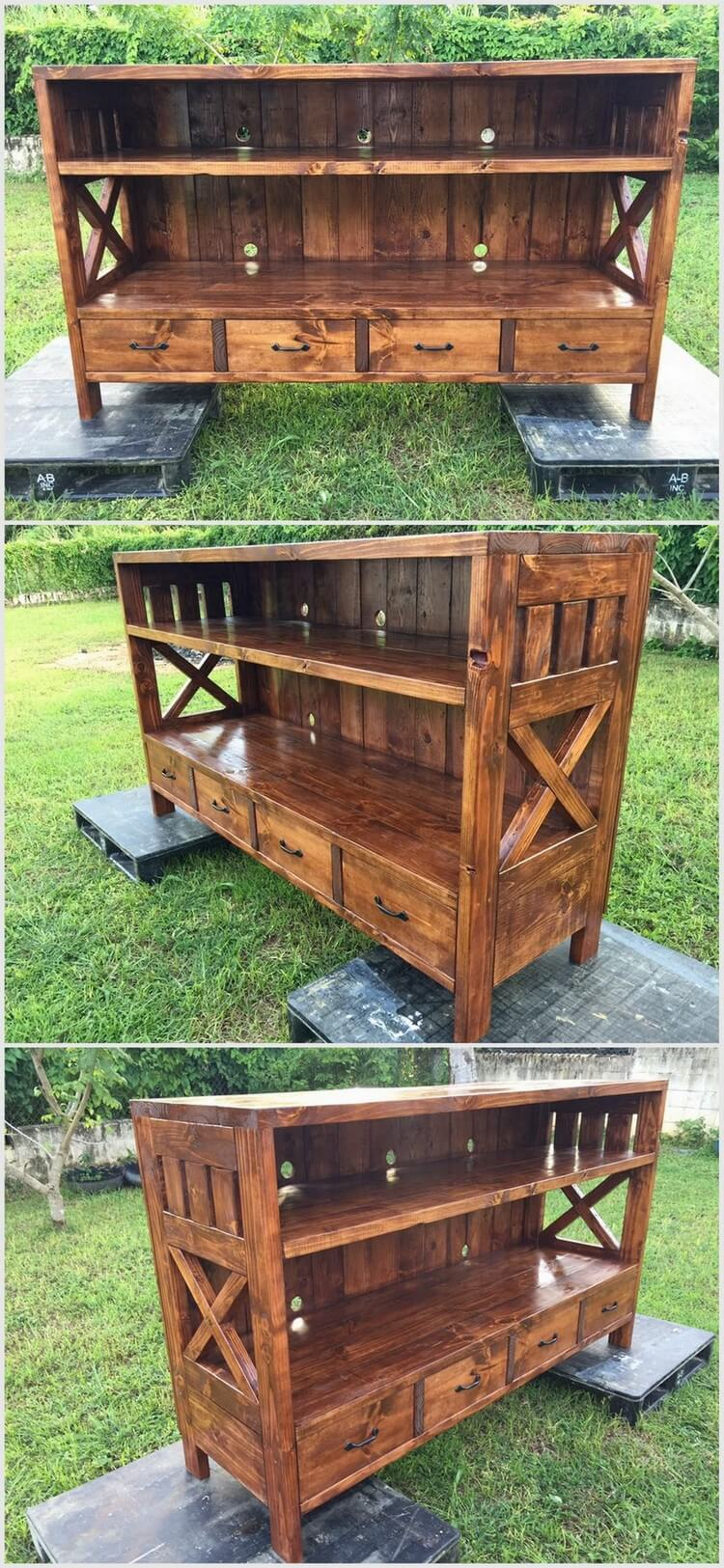 Unique and pretty wooden pallet projects pallet wood for Pallet furniture projects