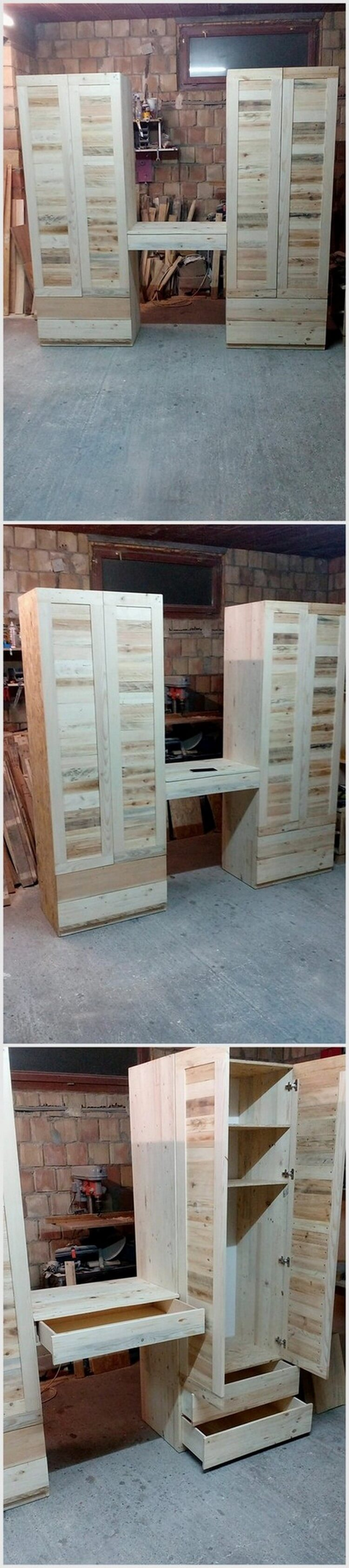 Pallet Wood Wardrobe