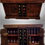Pallet Wood Wine Racks and Cabinets