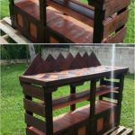 Prepare Cute Outdoor Bar with Used Wood Pallets