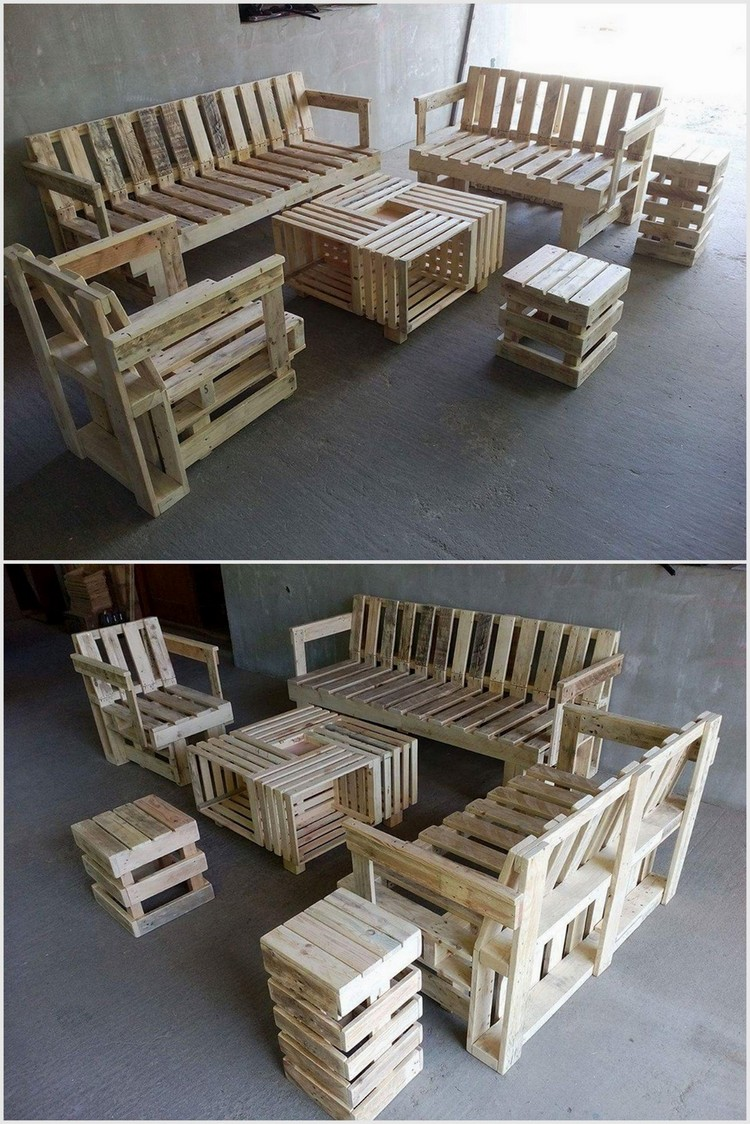 Recycled Wood Pallet Furniture Set
