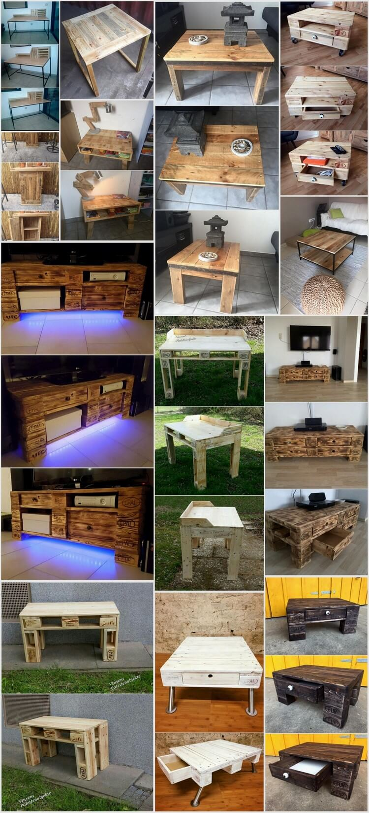 Used Shipping Wood Pallets Table Ideas