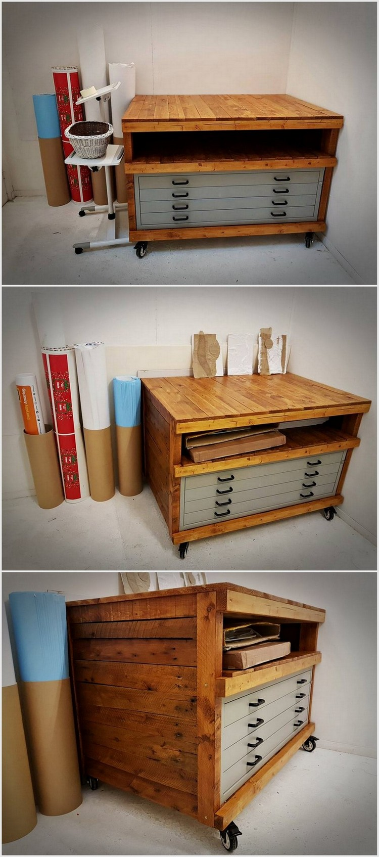Used Wood Pallet Office Table