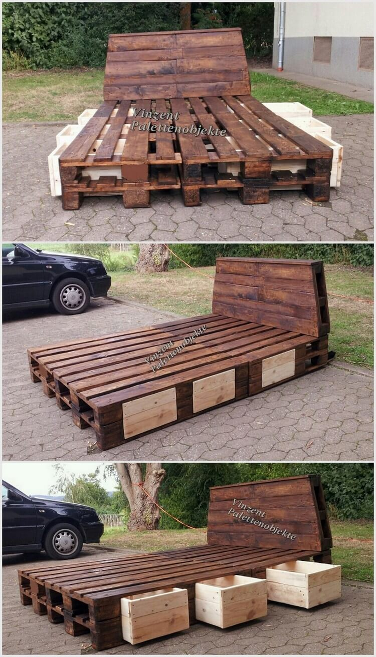 Marvelous recycling ideas with used shipping pallets for How to make furniture out of wood pallets