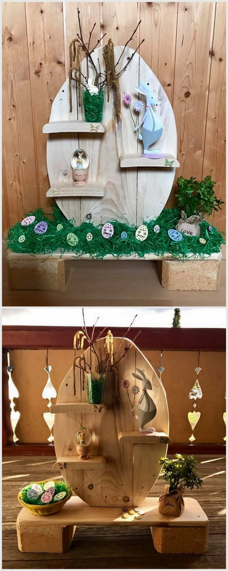 Wood Pallet Decor Idea