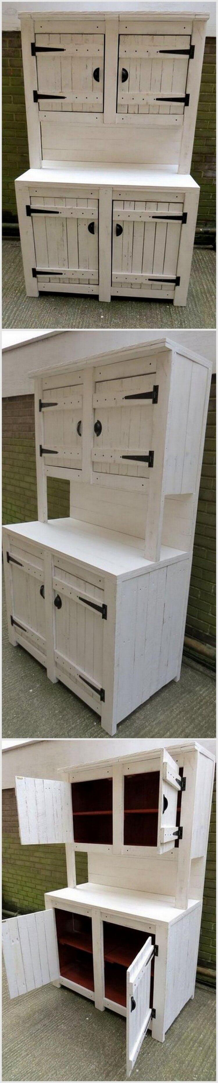 Wood Pallet Kitchen Cabinets - Hutch