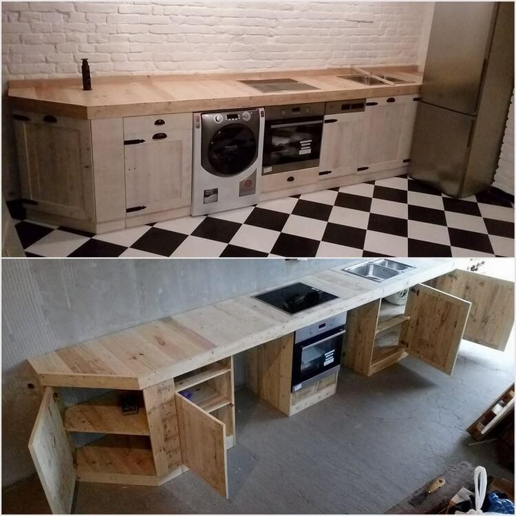 Kitchen Set Pallet: Unique And Pretty Wooden Pallet Projects