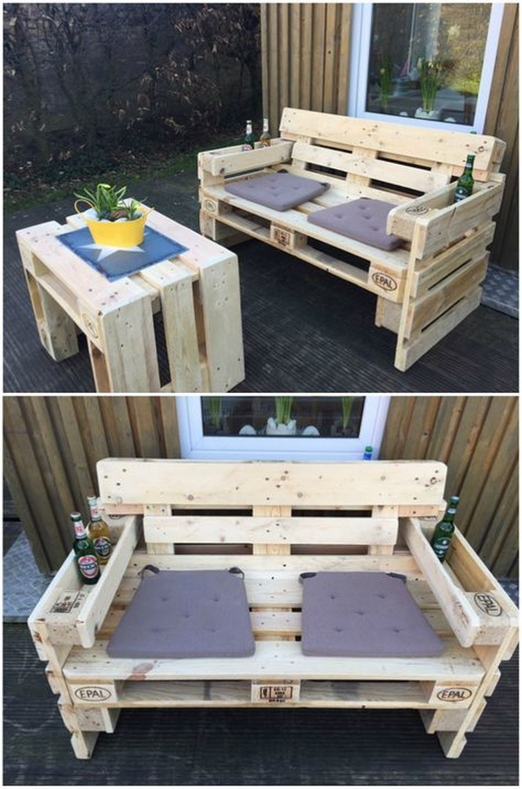 Wonderful pallet wood furniture ideas that are easy to for Pallet furniture designs