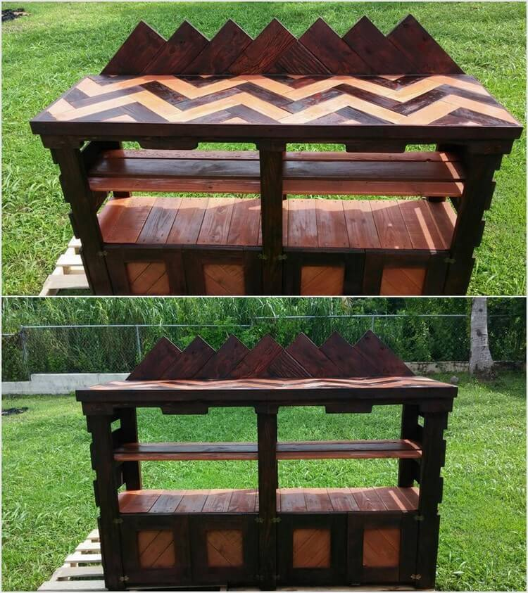 Wood Pallet Outdoor Garden Bar