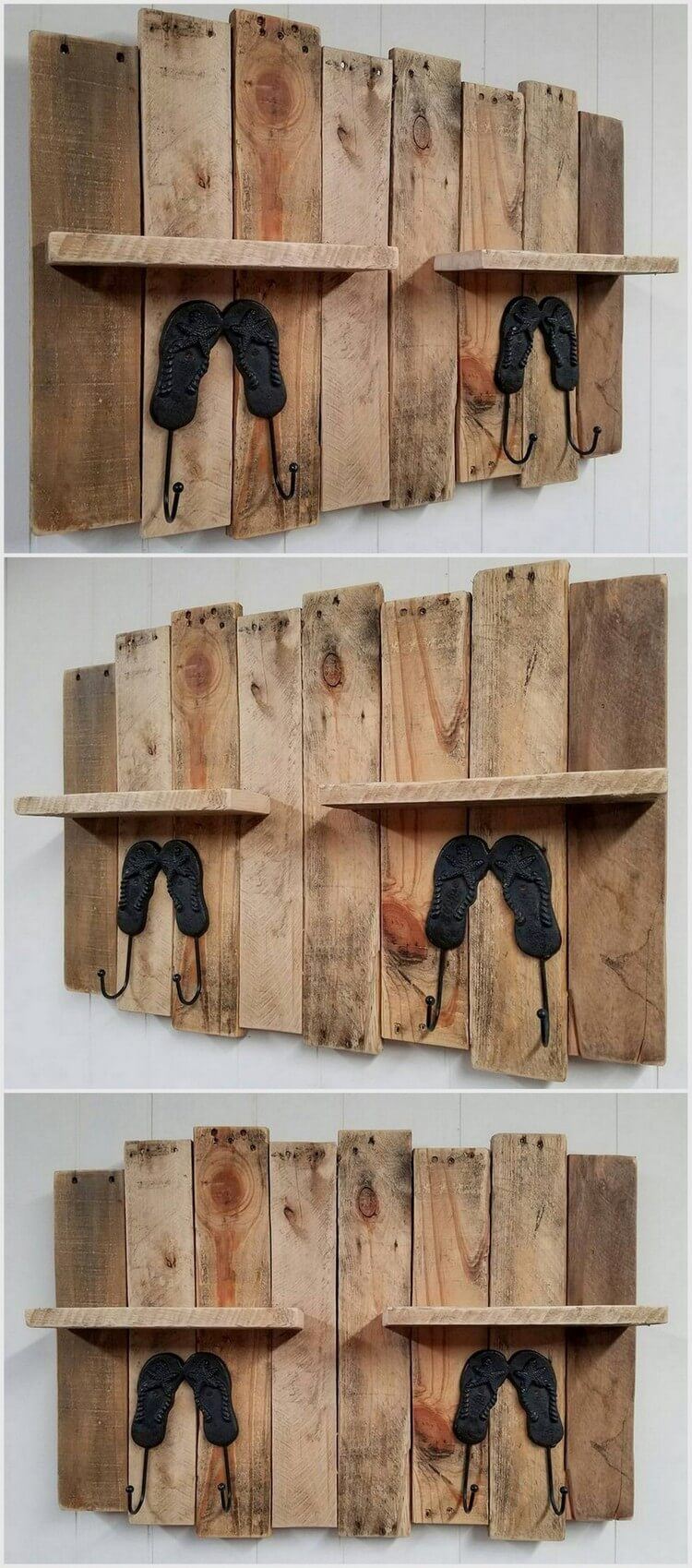 Wood Pallet Shelf and Coar Rack