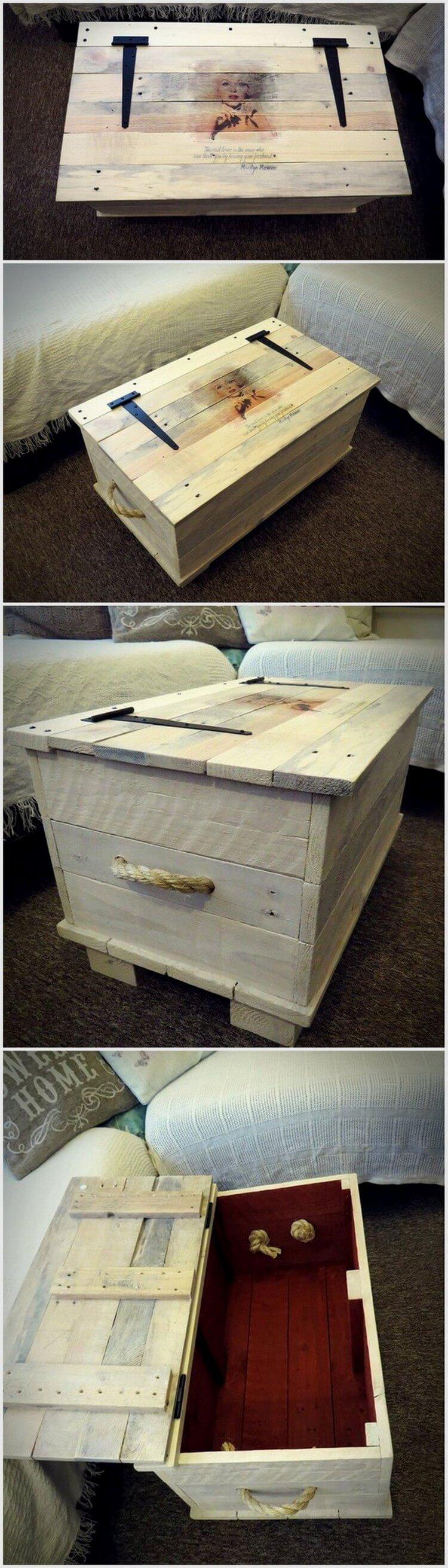 Wood Pallet Storage Chest