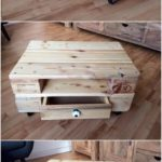 Wood Pallet Table on Tires