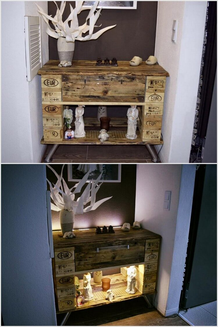 Wood Pallet Table with Light
