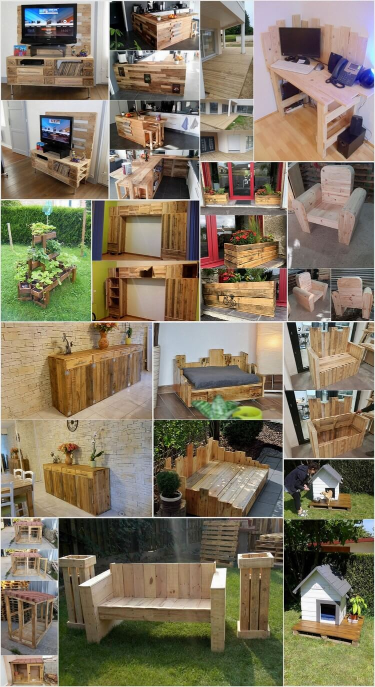 15+ Cool Ideas for Wood Pallet Recycling