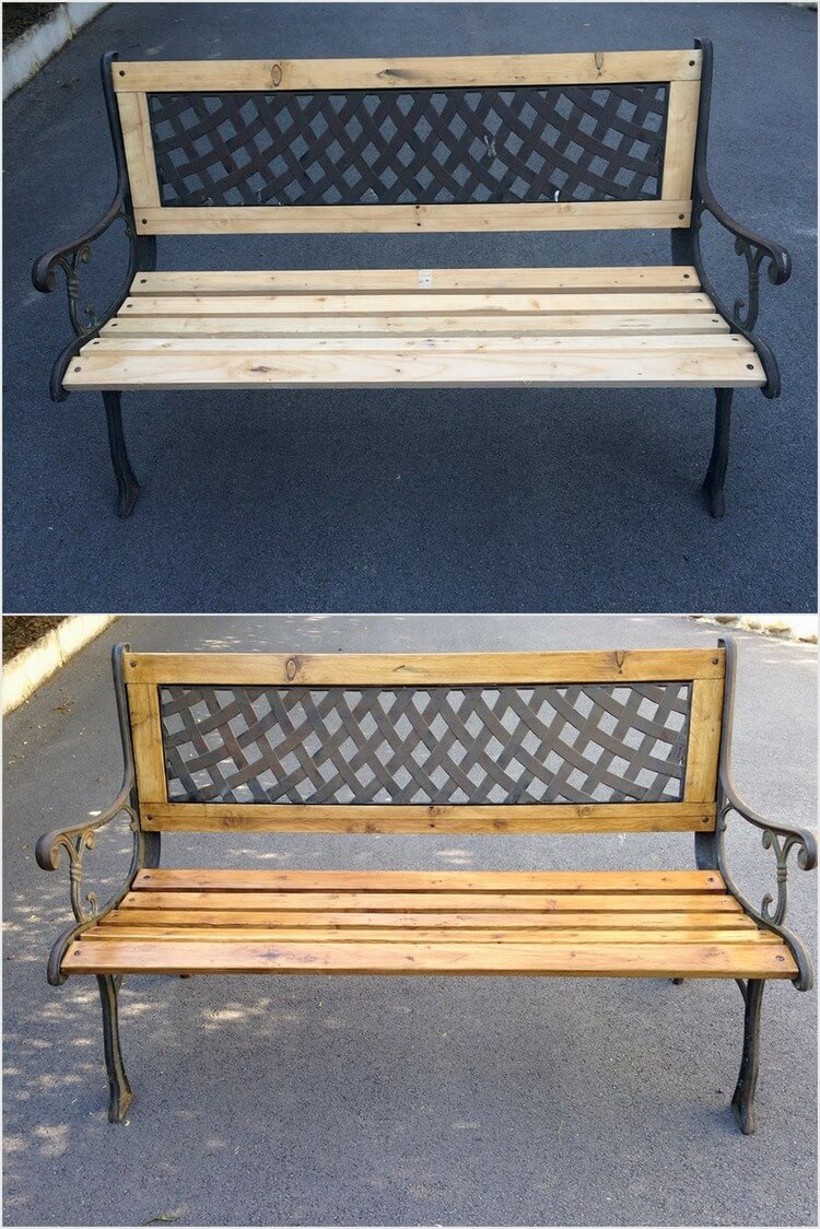 Artistic Wood Pallet Bench
