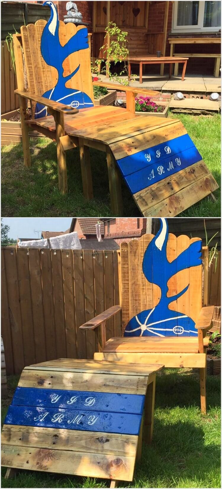 Artistic Wood Pallet Chair and Table