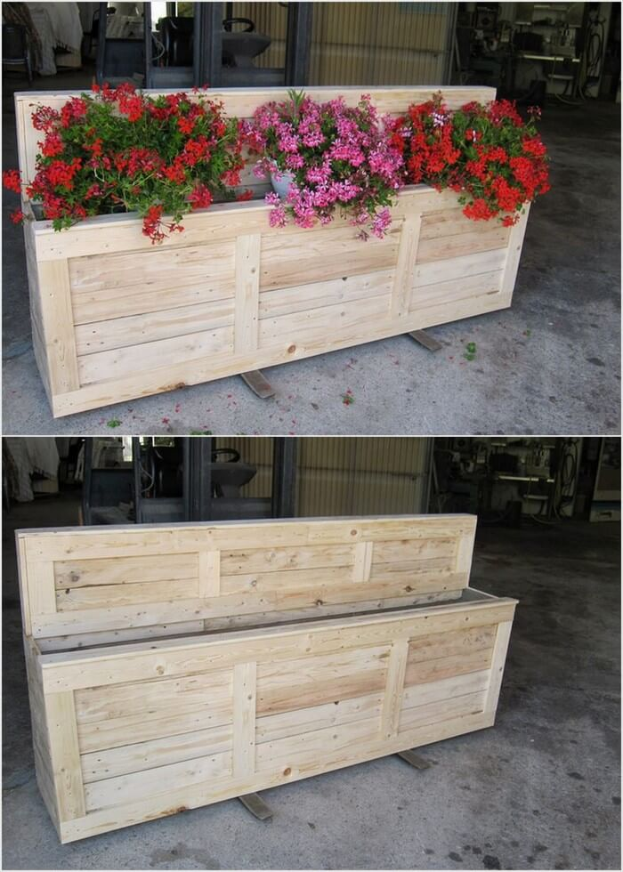 Big Wood Pallet Planter