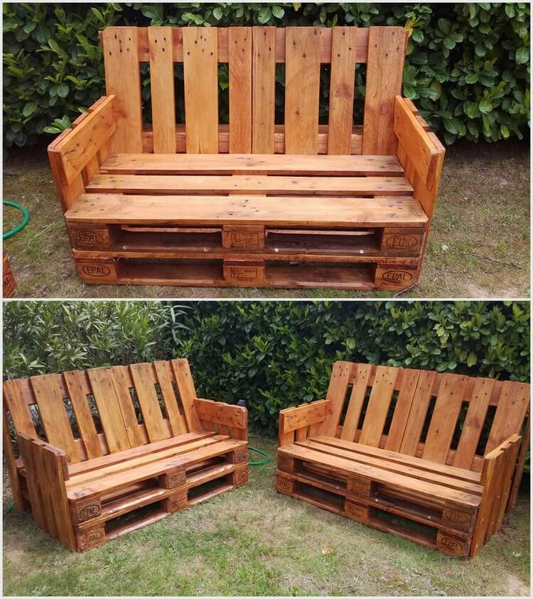 Comfy Wood Pallet Benches