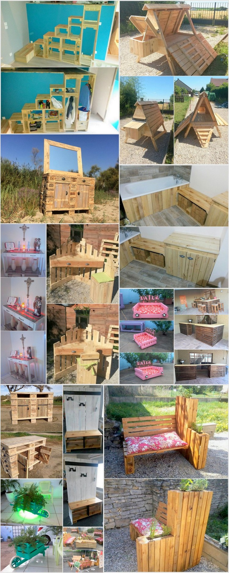 Creative ways to repurpose used shipping pallets pallet for Repurposed pallet projects