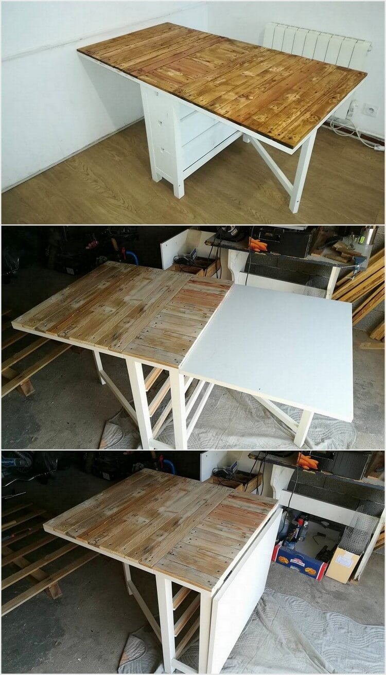 Foldable Wood Pallet Table