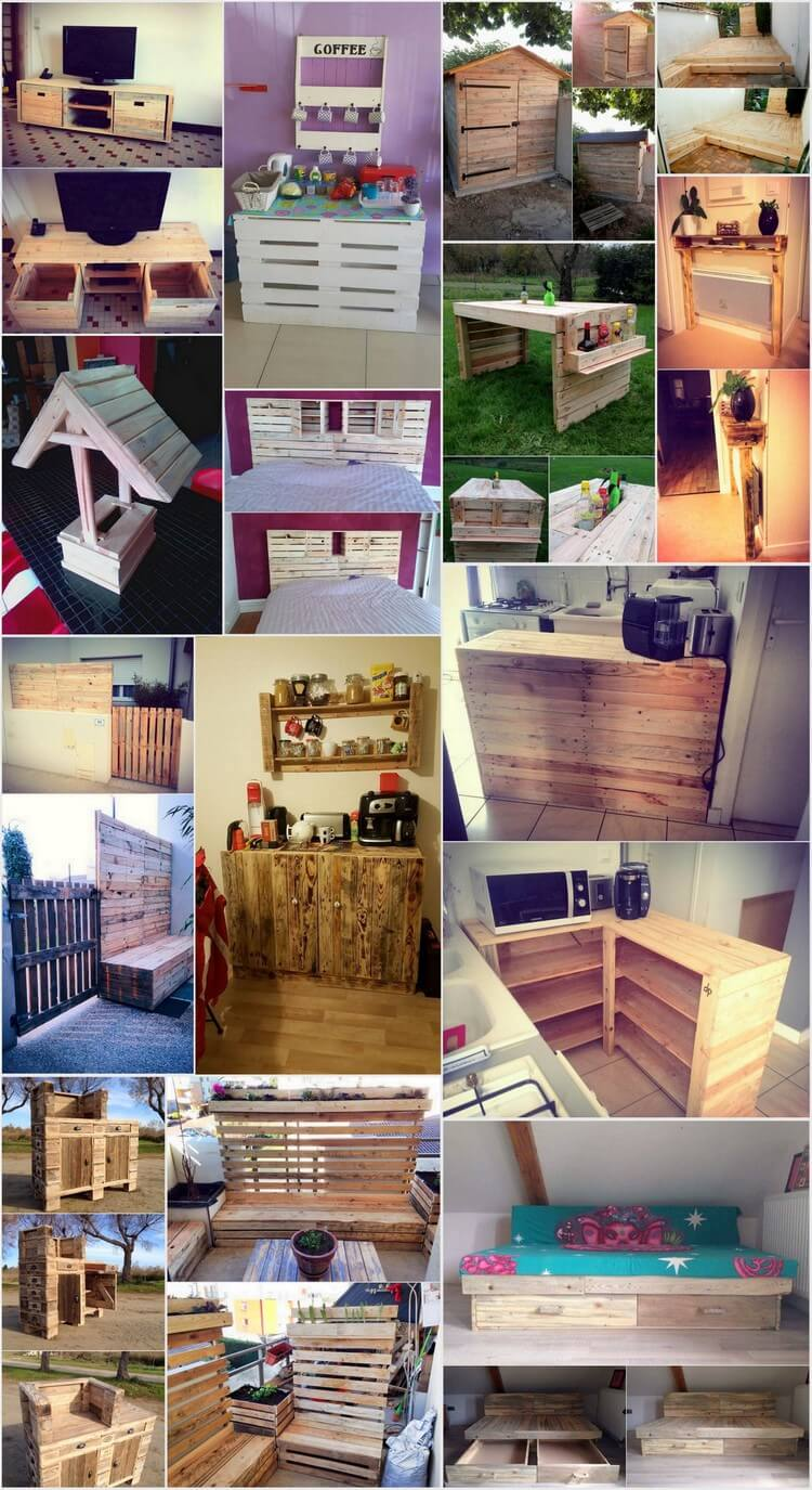 Homely DIY Projects with Shipping Wood Pallets