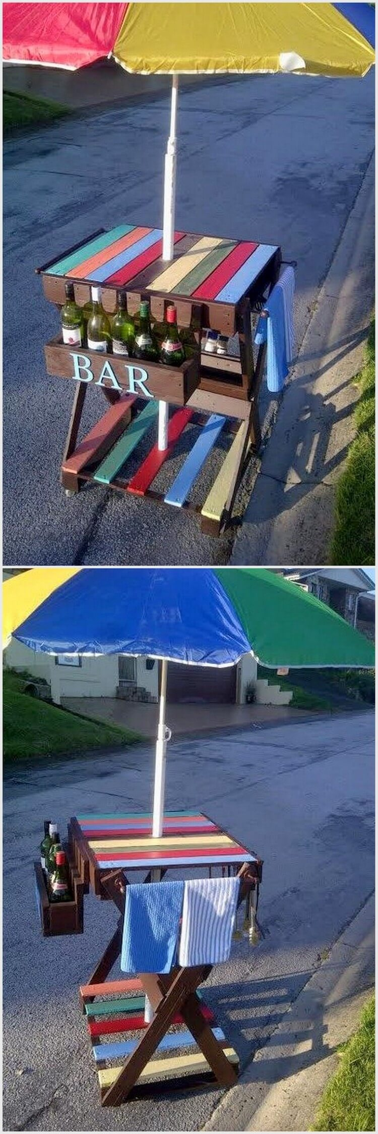 Mini Outdoor Pallet bar