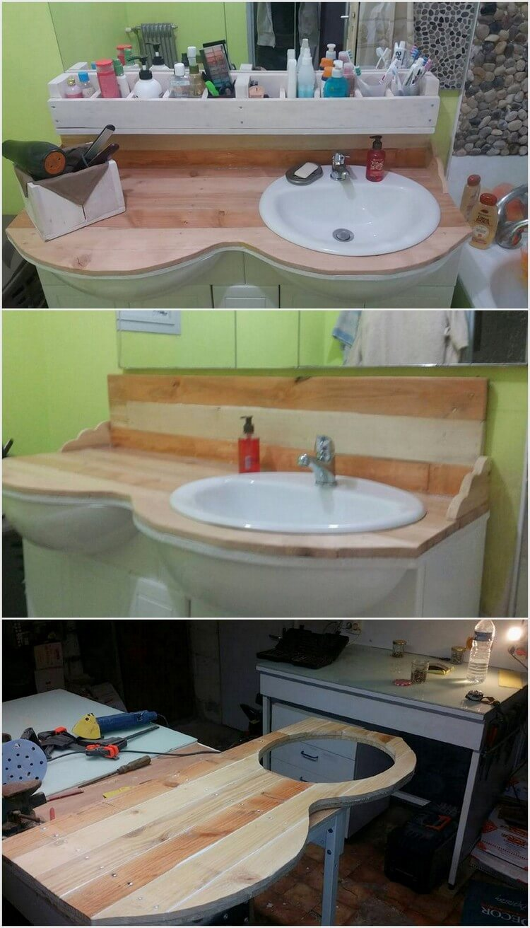Pallet Bathroom Sink Project