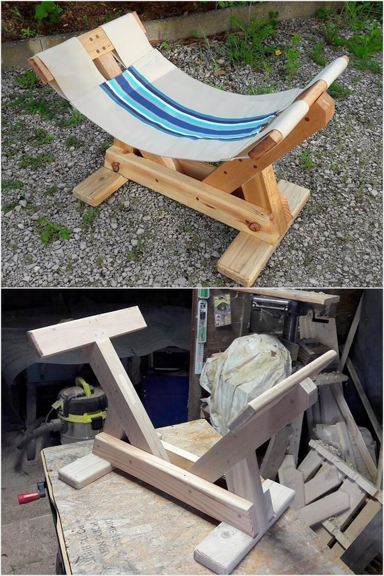 Pallet Chaise Sun Lounger for Kids