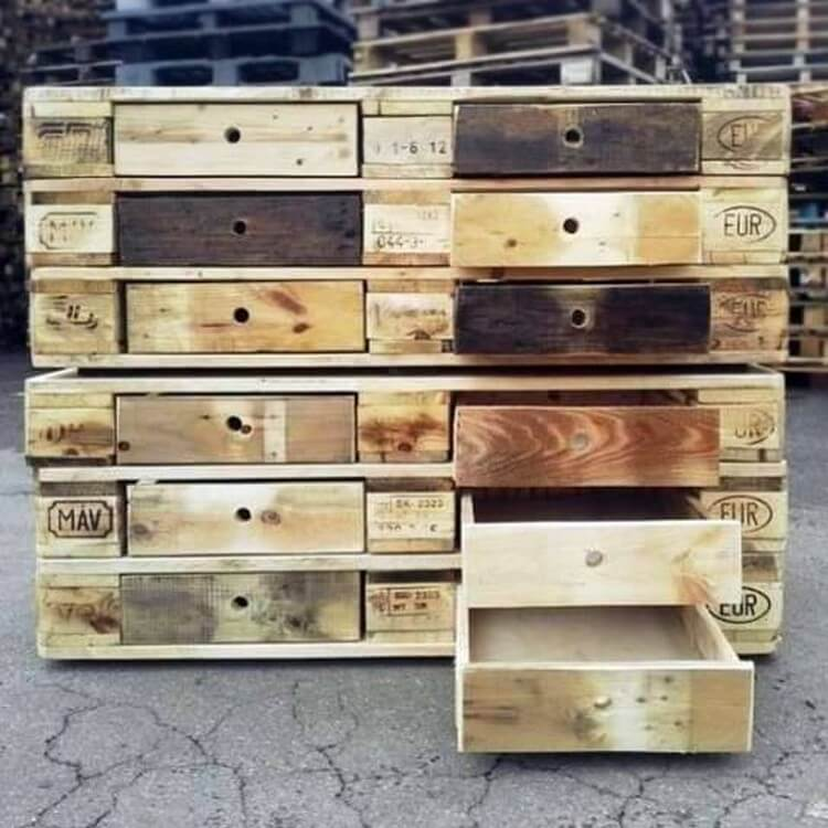 Pallet Chest of Huge Drawers