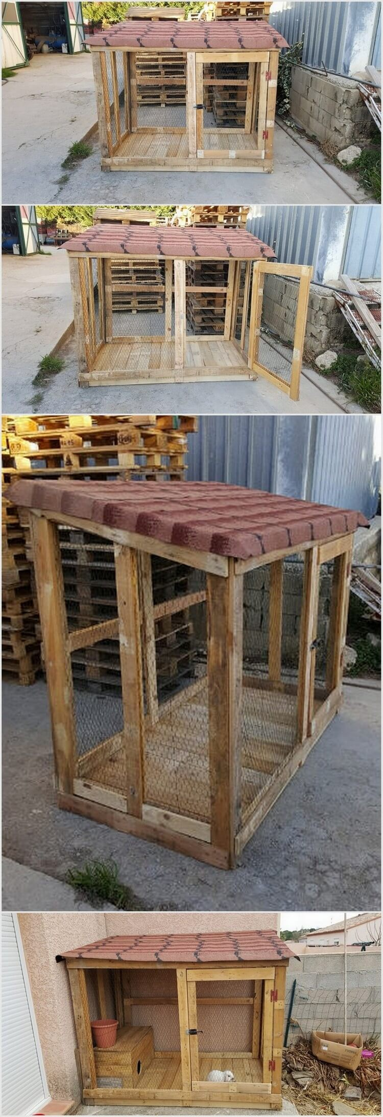 15 cool ideas for wood pallet recycling pallet wood Chicken coop from pallet wood