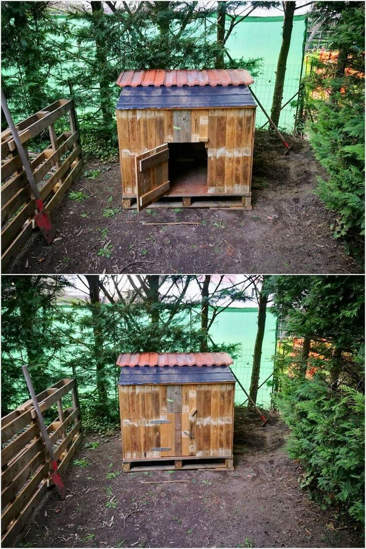Cheap home furnishings with recycled wooden pallets Chicken coop from pallet wood