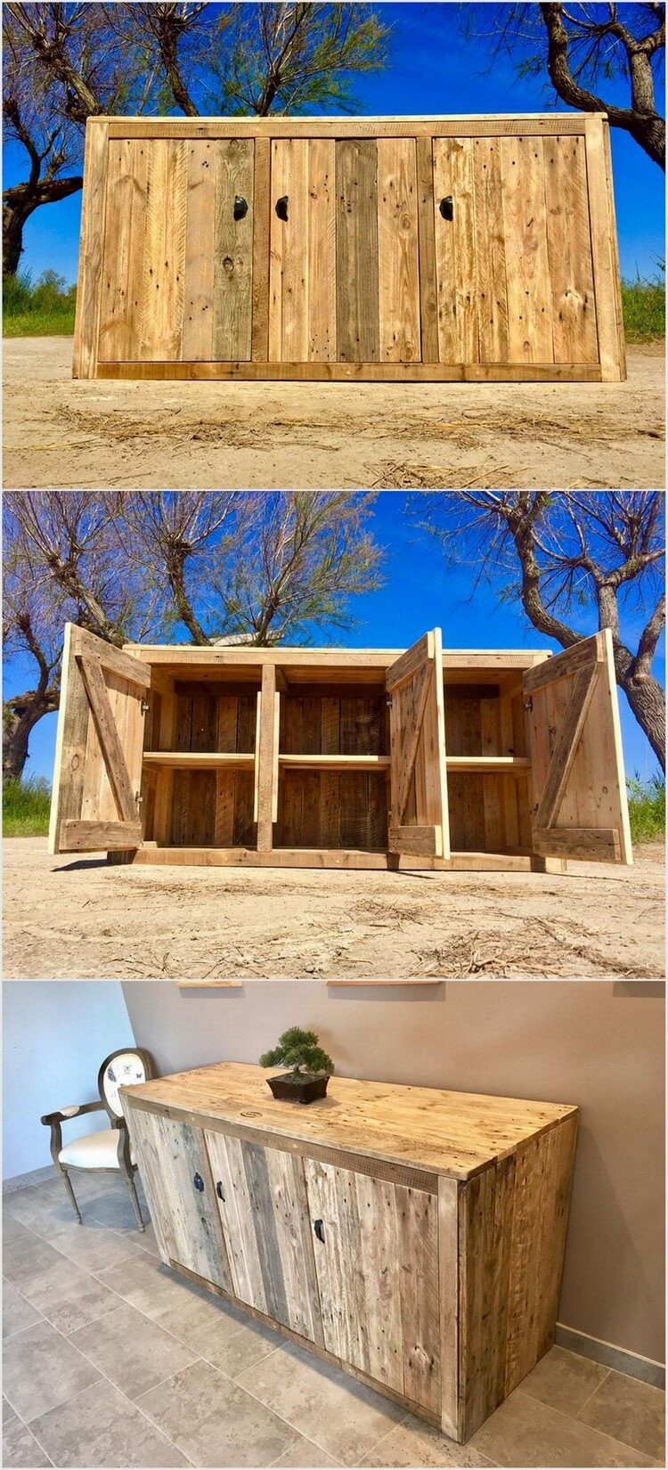 inspiring diy ideas with old wood pallets pallet wood projects. Black Bedroom Furniture Sets. Home Design Ideas
