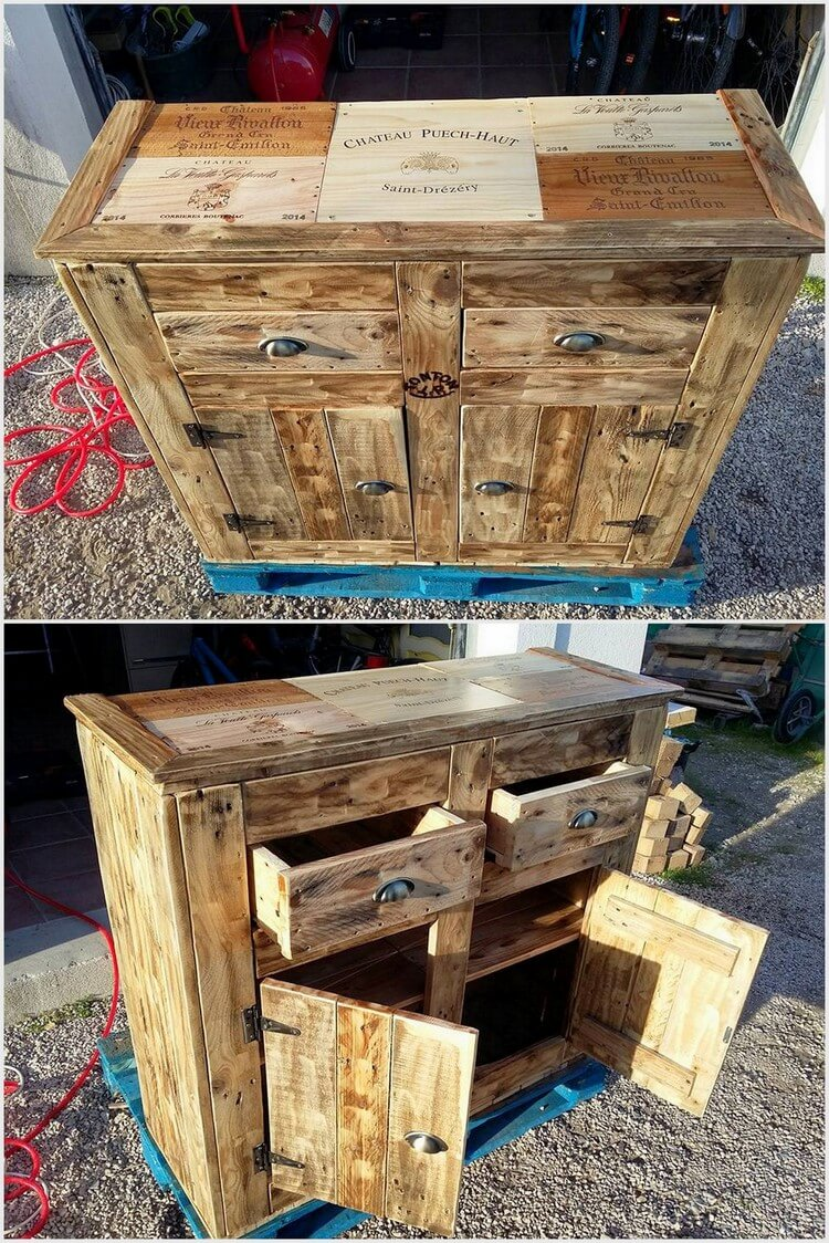 Pallet Entryway Table or Cabinet