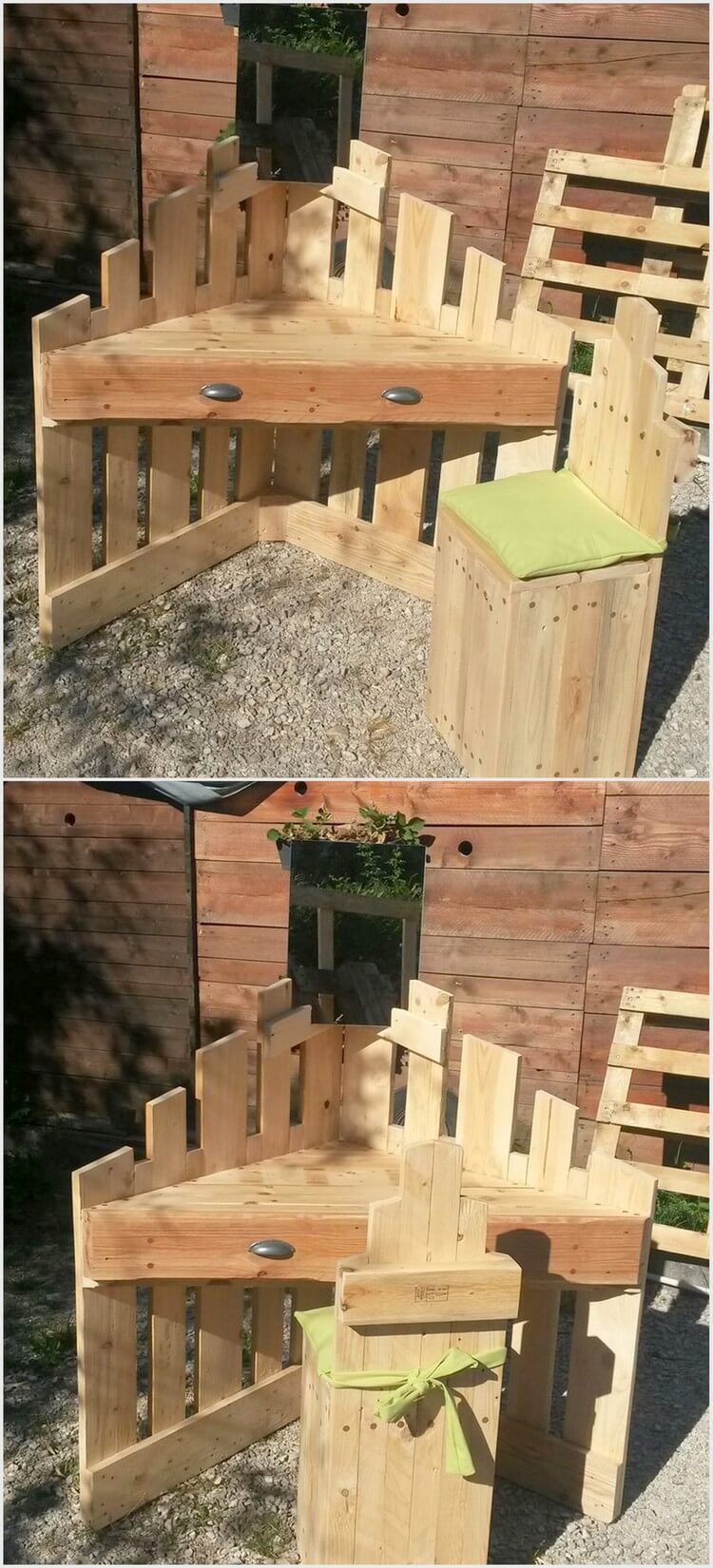 Creative ways to repurpose used shipping pallets pallet for Creative pallet