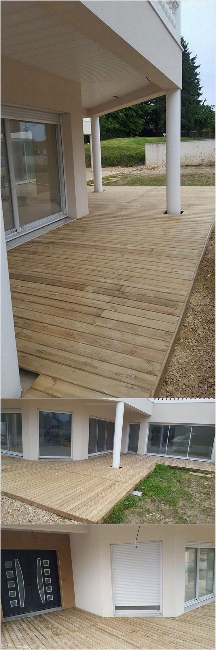 Pallet Garden Deck Floor