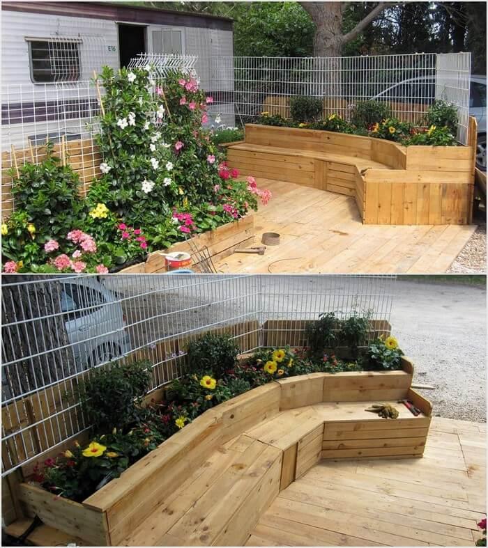 Pallet Garden Seat or Planters