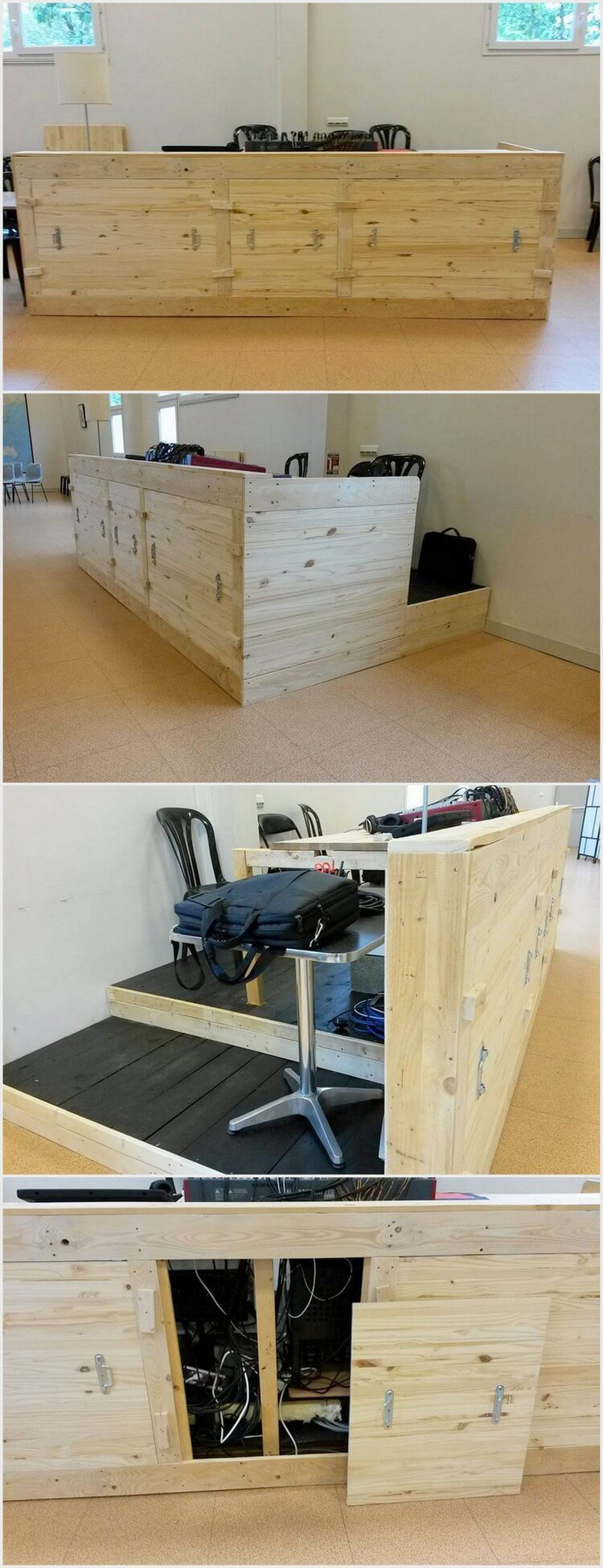 Pallet Office Desk with Storage