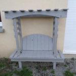 Pallet Pergola Bench