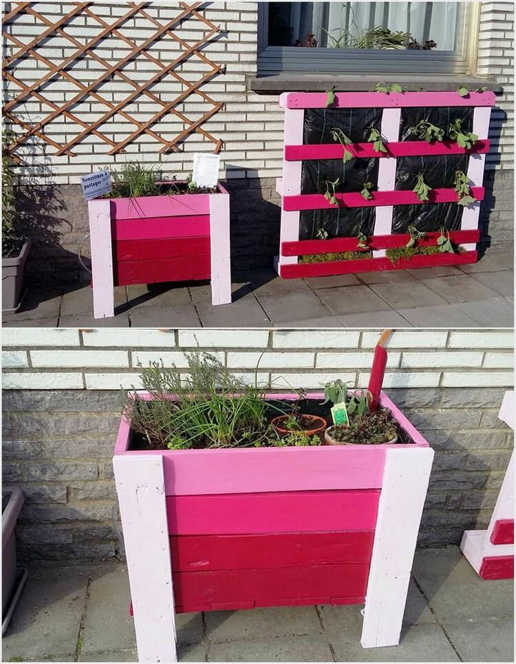 Pallet Planter and Planter Box