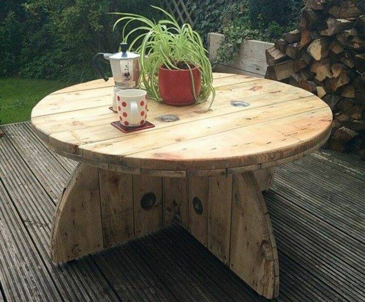 35 easiest plans for wood pallet reusing pallet wood for Plan table de jardin en bois